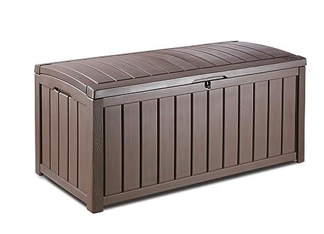 Box Per Esterni Plastica.Glenwood Plastica Deck Storage Box Contenitore Esterno Patio