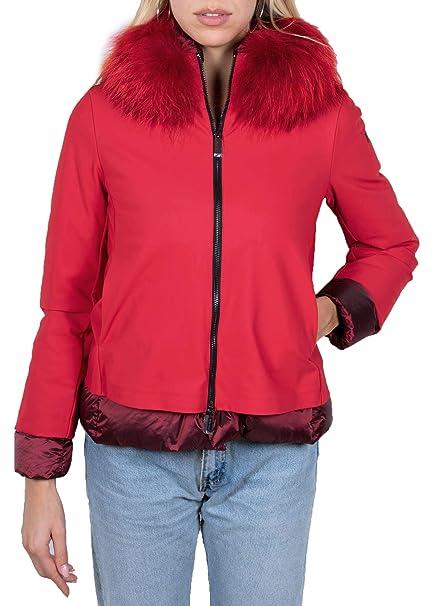 Rrd Piumino Donna Rosso Light Winter k Lady Fur W19504FT 71