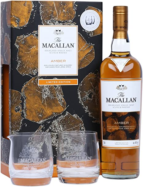 Macallan Amber 70cl with Glass Gift Pack 70 cl 2016 Limited Edition ...