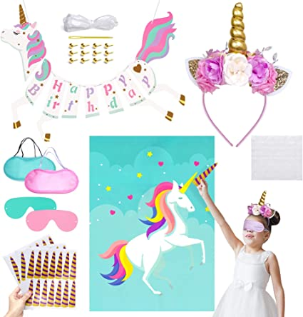 Amazon.com: Unicornio suministros de fiesta de cumpleaños ...