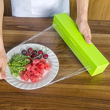 igemy Vogue plástico cortador de papel de cocina y dispensador de film transparente de almacenamiento 3 Color: Amazon.es: Hogar