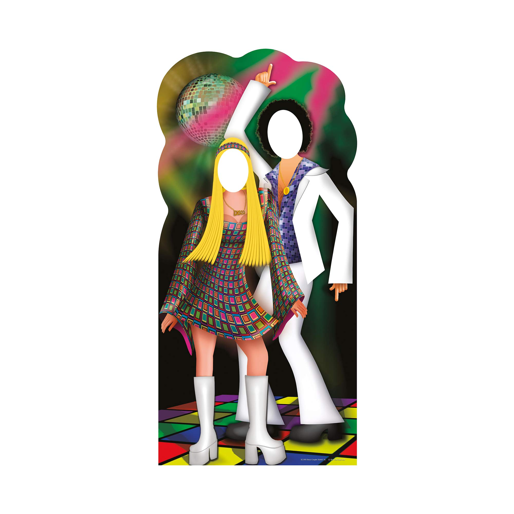 Star Cutouts SC190 Disco Couple Stand-In Cardboard Cutout Standup