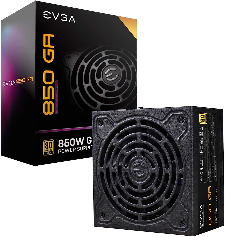 EVGA Supernova 850 Ga, 80 Plus Gold 850W, Fully Modular, ECO Mode with Dbb Fan, 10 Year Warranty, Compact 150mm Size, Power Supply 220-GA-0850-X1