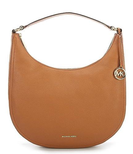 22913f9a0059 Amazon.com: Michael Kors Lydia Gold-Tone Large Hobo Bag, Acorn: Shoes