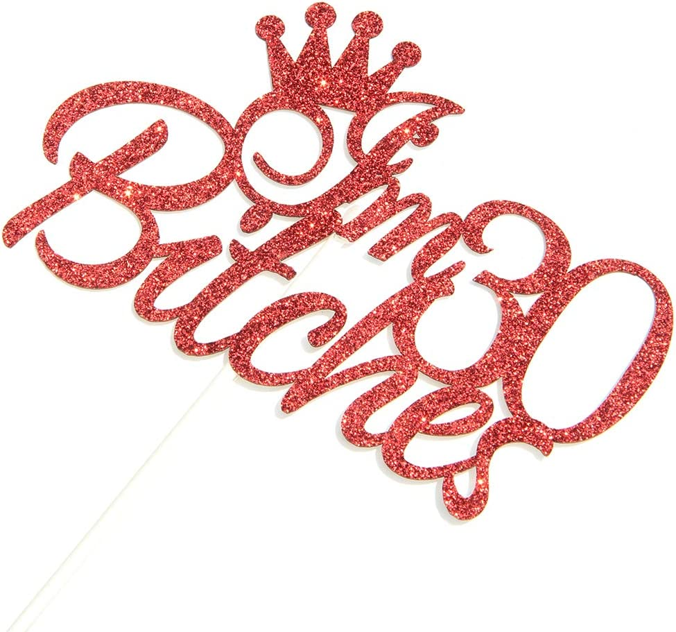 Red Women/' s 30th Birthday Party Decorations 30th Birthday Party Decor Dill-Dall Im 30 Cake Topper Funny Thirty Years Old Cake Topper