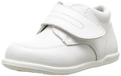 896b03b1cf52 Smart Step Boys White Velcro Closure Wide Width Walking Shoes 3 Baby ...