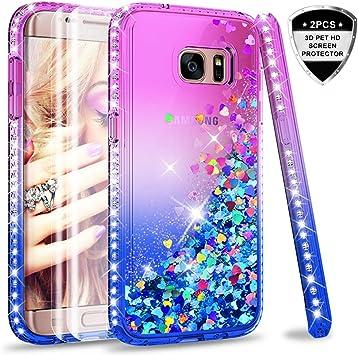 LeYi Compatible with Funda Samsung Galaxy S7 Edge Silicona ...
