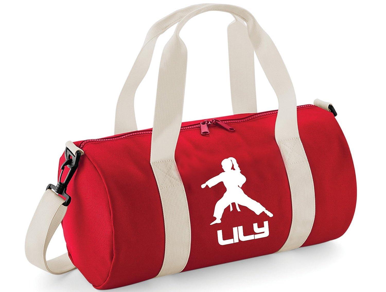 mit Karate-//Fitness-Thema Personalisierbare Tasche f/ür Kinder