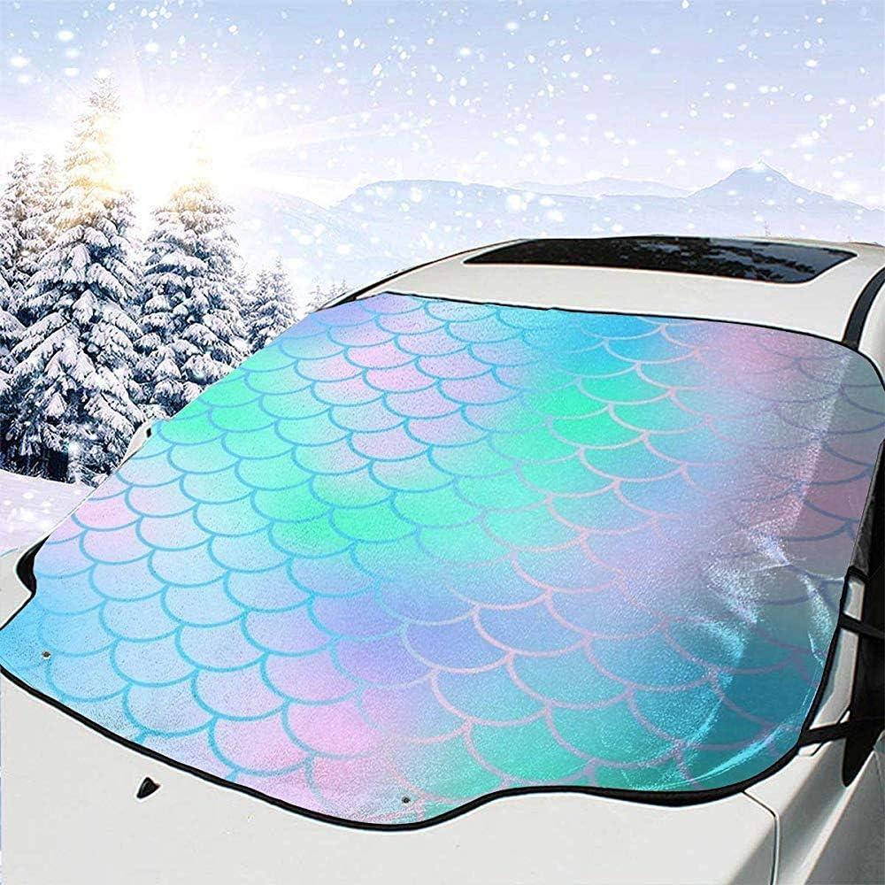 Auto Front Fenster jalousien Schutz passt alle Jahreszeiten Dem Boswell Bunte Fischschuppen Auto windschutzscheibe Abdeckung f/ür EIS Schnee Frost Sonne