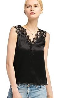 Lilysilk V Sans Top Col Soie Manche Femme En Pour Boutonné Shirt 76gvIYfyb