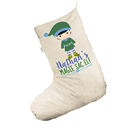 Personalizado My Sac elfo grande Natural Navidad medias calcetines