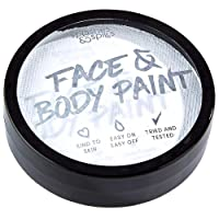 Water Activated Face and Body Paint - White, 18g Cake Tub - Pretend Costume and...
