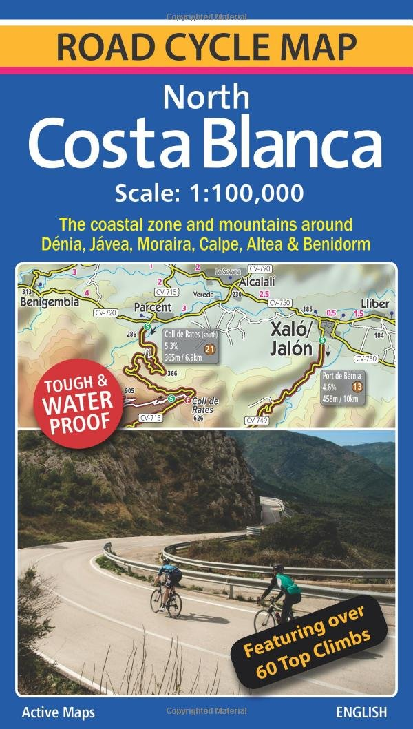 Map Of Spain Jalon.North Costa Blanca Road Cycle Map Amazon Co Uk Richard Ross
