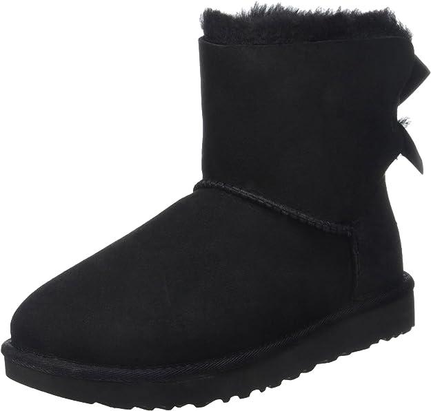UGG Women's Mini Bailey Bow II Winter Boot, Trendy Winter Boots Women