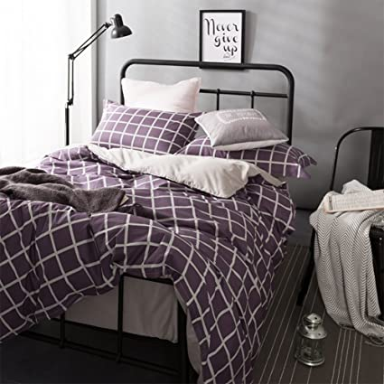 Aik@ Household Duvet Cover Sets 4 Psc Cotton Twin Queen Full King Single  Double Bed