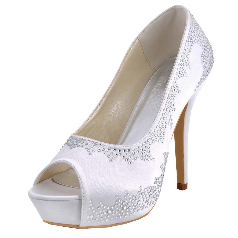 Minitoo Chaussures Blanc De Femme 12cm White Mariage Tendance qCwrBxRqd