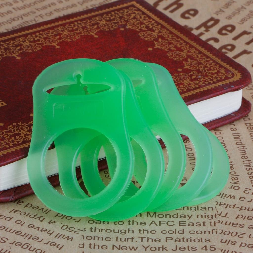 5Pcs Silicone Baby Boy Girl Dummy Pacifier Holder Clip Adapter for MAM Rings