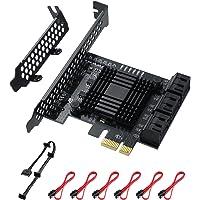 MZHOU SATA-uitbreidingskaart, PCI SATA-Controller , 6GB SATA 3.0 PCIe-Kaart Zonder RAID, Opstarten als Harde Schijf van…
