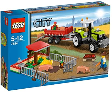 Amazon Com Lego City Set 7684 Pig Farm Tractor Toys Games