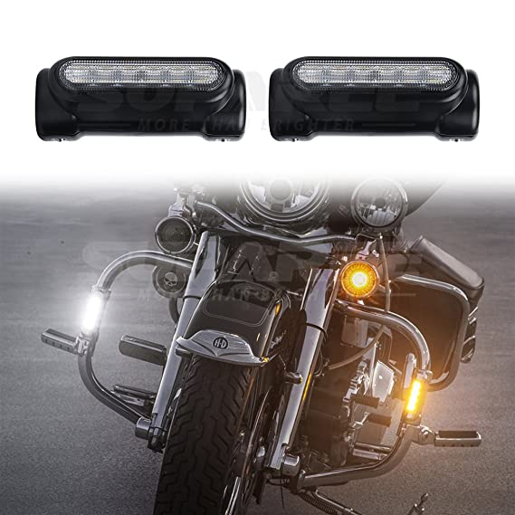 Sturzb/ügel Harley Davidson Touring Bikes TUINCYN Silver Motorrad Highway Switchback Driving Light f/ür