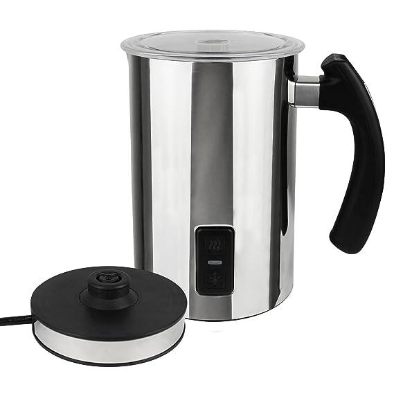Leogreen - Espumador de Leche Automático, Calentador de Leche Eléctrico, 115mm / 3,88fl oz para espumar la leche, 240mm / 8,10fl oz para la leche de la ...