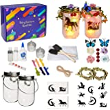 ANGMLN Fairy and Unicorn Night Light Lantern Craft Kit DIY Make Your Own Fairy Lantern Jar Colorful Night Light for Girl…