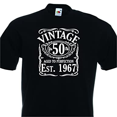 Vintage Since 1967 Mens 50th Birthday T Shirt Great Tshirt Gift Idea Funny Amazoncouk Clothing