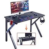 "Mr IRONSTONE Gaming Desk 45.2"" W x 23.6"" D Home Office Computer Desk, Gamer Workstation with Socket of 3-Outlet & 2 USB…"