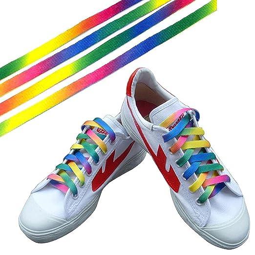 Schuh Schnürsenkel 0 Regenbogen Bunte Oulii Spitze Flache 9m 1XxP4nW
