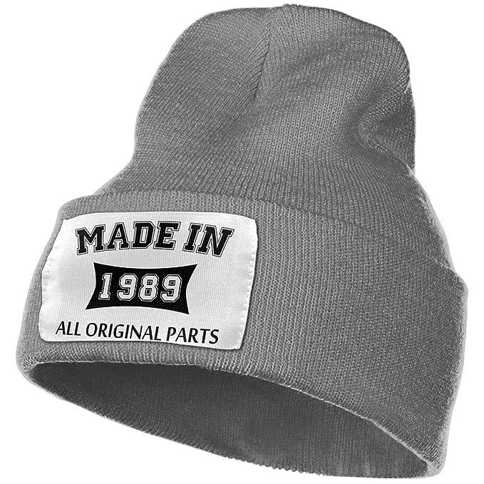 Made in 1989 All Original Parts Men/&Women Warm Winter Knit Plain Beanie Hat Skull Cap Acrylic Knit Cuff Hat