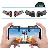[ELITE Edition]Leuna PUBG Mobile Game Controller L1R1 Game Triggers Fire and Aim Buttons for iPhone SE 6 7 8 X / Samsung Note 8 9 / S7 S8 S9 (Color: Black, Tamaño: Elite Edition)