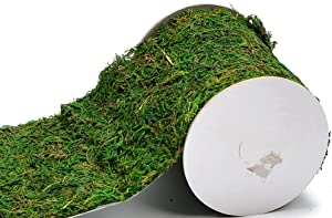 "Byher Roll of Green Moss for Fairy Gardens Wedding Other Arts and Crafts (10x120cm (4"" W x 48"" L))"