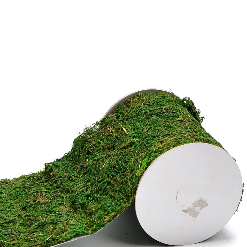 Byher Roll of Green Moss for Fairy Gardens Wedding Other Arts and Crafts (12x120cm (4.8'' W x 48'' L))