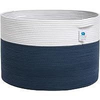Mega Size Extra Large Storage Basket, Cotton Rope Storage Baskets, Woven Laundry Hamper, Toy Storage Bin, for Toys Towel…