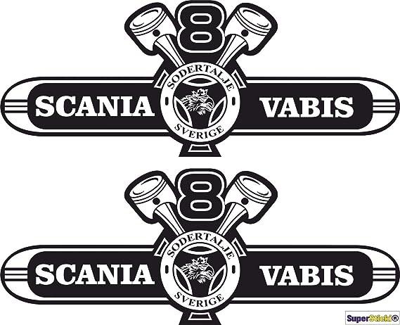 Supersticki Scania Vabis Aufkleber 2stück Ca 40 Cm Aufkleber Sticker Decal Aus Hochleistungsfolie Aufkleber Autoaufkleber Tuningaufkleber Racingaufkleber Rennaufkleber Hochleistungsfolie F Auto