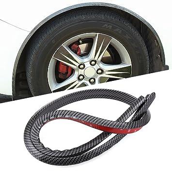 Pegatina protectora de arco para rueda de coche, fibra de carbono, antirayones: Amazon.es: Coche y moto