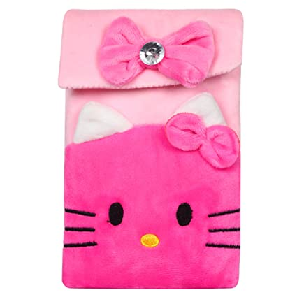 c85183194 Buy CREATURE Hello Kitty Soft Velvet Pink Color Sling Bag   Carton  Character Pink Color Sling Pouch   Pink Color Universal Pouch(HKP) (Dark  Pink) Online at ...