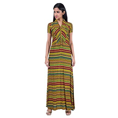 Mamosa Printed Rayon Half Sleeve gown for latest design redymade ...