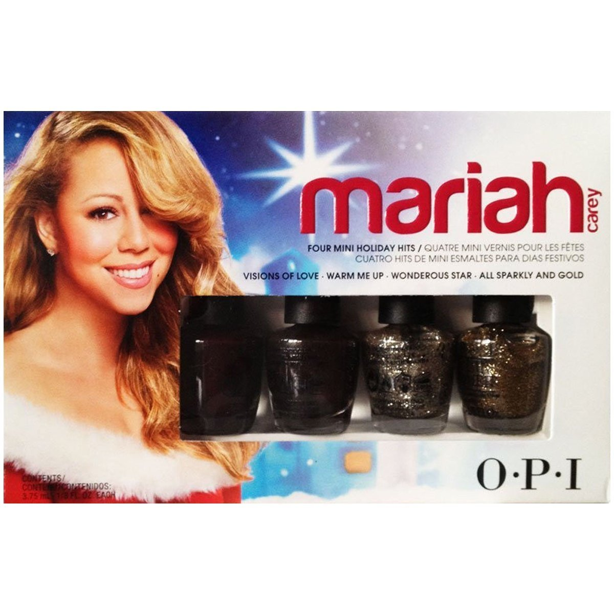 Amazon.com : Mariah Carey by OPI Four Mini Holiday Hits : Nail ...