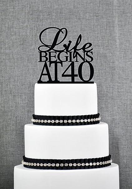 Pleasant Life Begins At 40 Birthday Topper Elegant 40Th Birthday Topper Personalised Birthday Cards Fashionlily Jamesorg