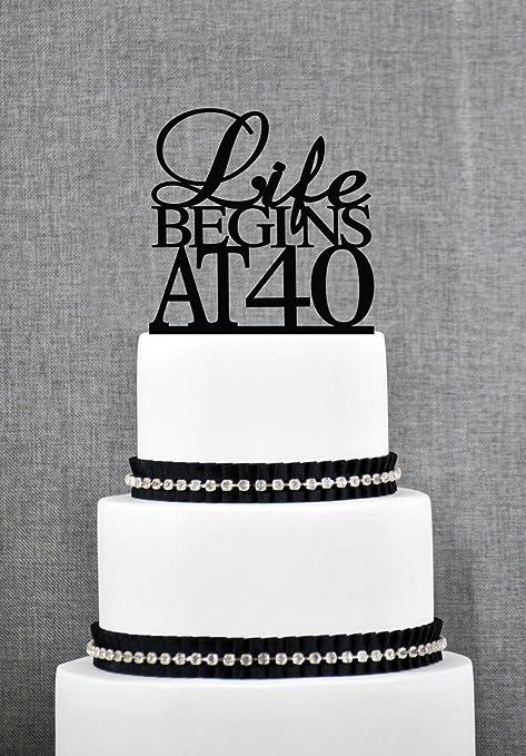 Decoración elegante para 40 cumpleaños, diseño con texto en ...