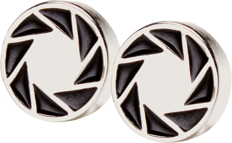 JINX Portal 2 Aperture 80's Logo Earrings