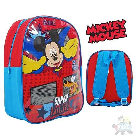 Disney Mickey 8975023AHV Grande Arco Mochila con Correas Ajustables, Rojo, 41 Cm