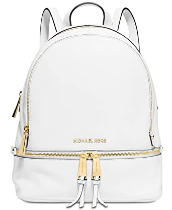 bc39d97d9628 Amazon.com: MICHAEL Michael Kors Rhea Zip Medium Leather Backpack, Optic  White: Shoes