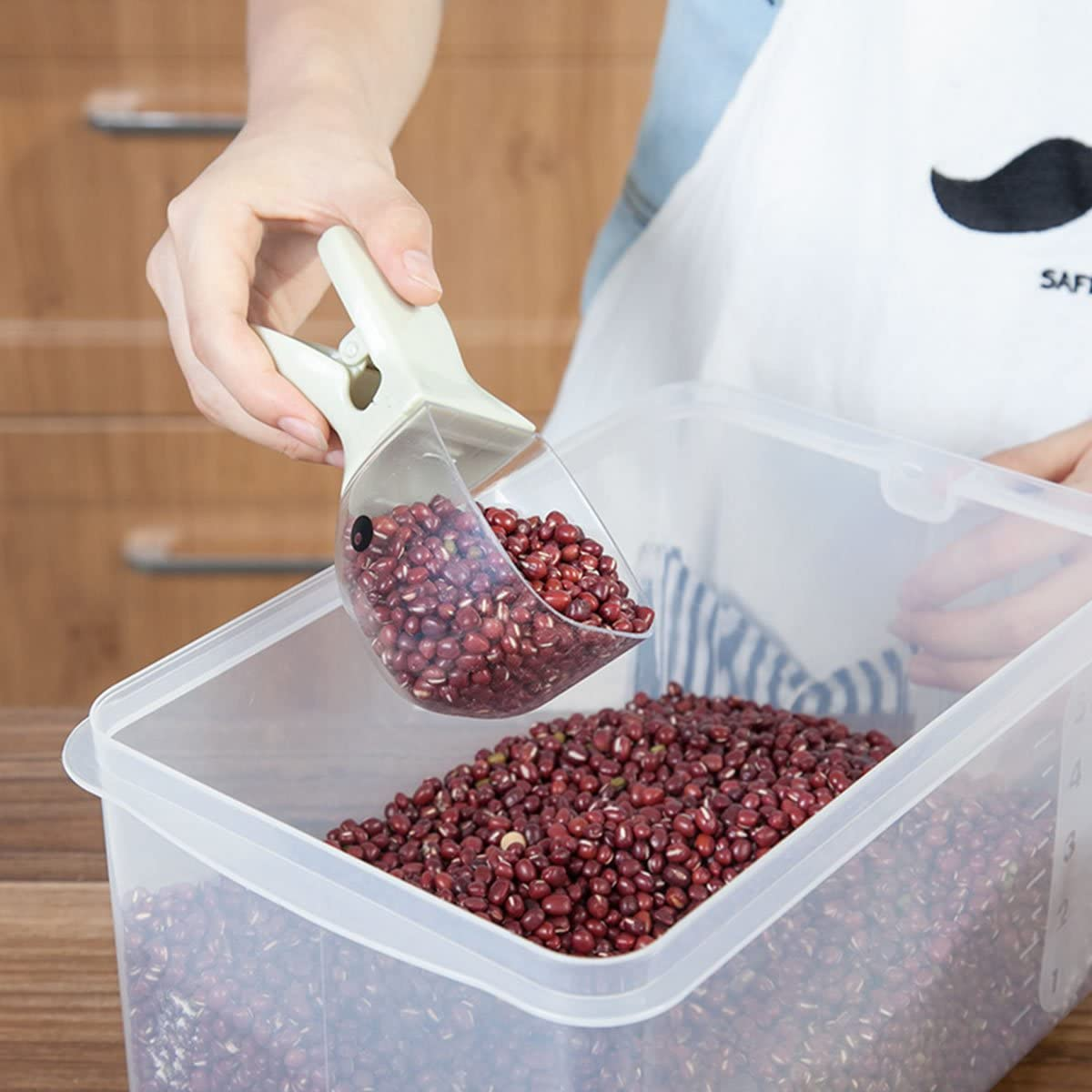 Oumosi plastica pasta cereale paletta multifunzionale duck-clip misura tazza di riso cucchiaio dosatore