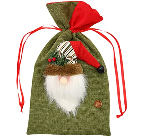 Wicemoon - Bolsa de regalo de Papá Noel para Navidad ...