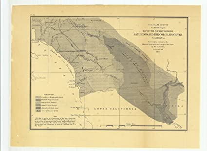 Amazon Com 8 X 12 Inch 1855 Us Old Nautical Map Drawing Chart Map