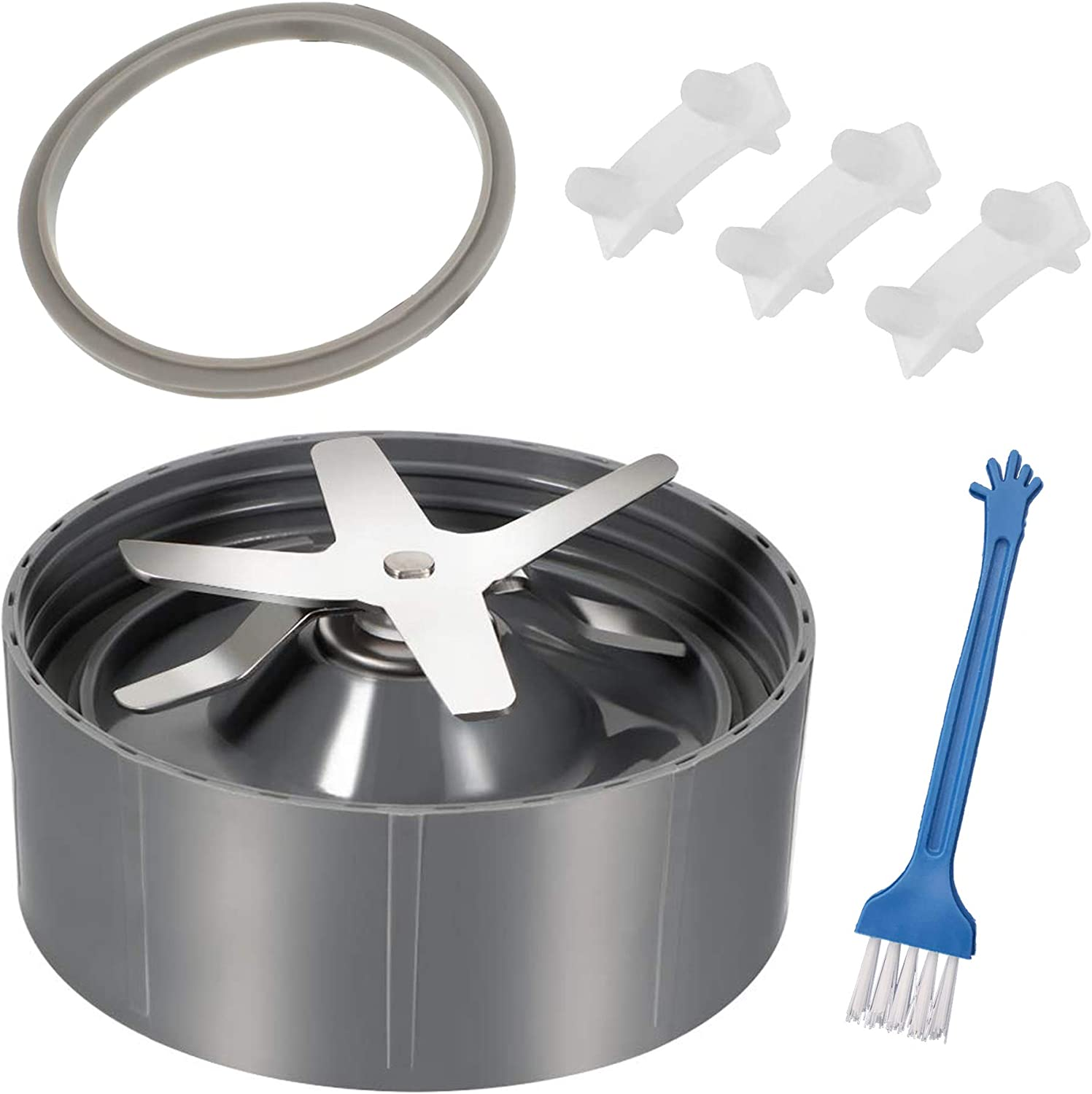 HEAURBE 6 Fins Blender Replacement Parts for Nutribullet 600w-900w,Extractor Blade Replacement for Nutribullet 600w & 900w Pro Plus NB-101s, Blender Blade gasket Replacement Blender Accessories