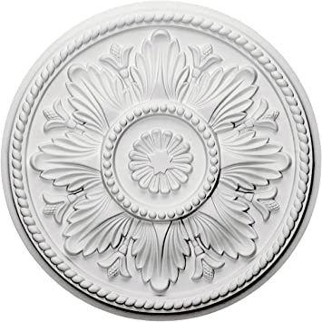 Ekena Millwork Cm18ed Edinburgh Ceiling Medallion 18 Od X 1 3 4 P Fits Canopies Up To 5 1 4 Factory Primed Decorative Ceiling Medallions Amazon Com