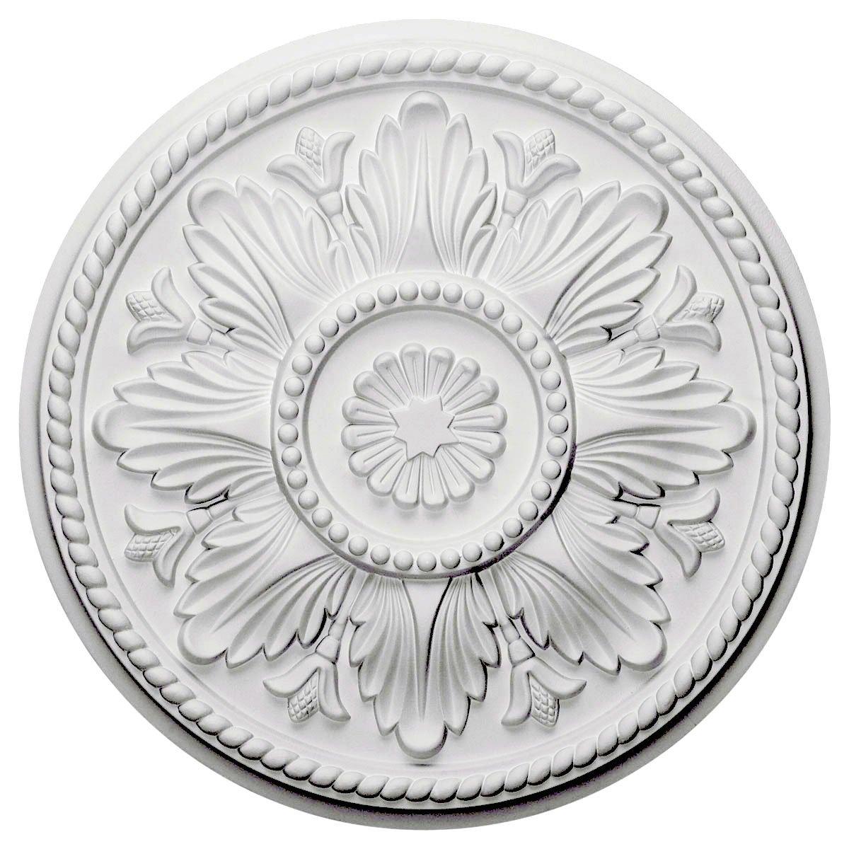 Ekena Millwork CM18ED 18-Inch OD x 5 1/2-Inch ID x 1 3/4-Inch Edinburgh Ceiling Medallion
